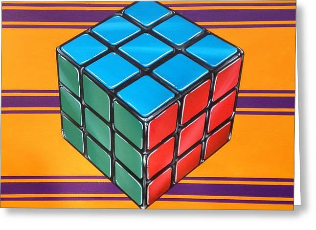 Rubiks Greeting Card by Anthony Mezza