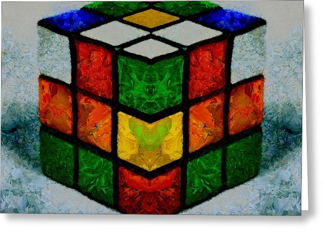 Solving Greeting Cards - Rubiks Cube Greeting Card by Dan Sproul