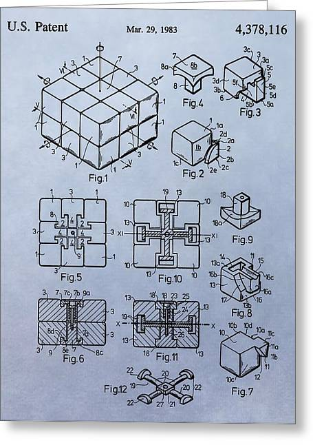 Solving Greeting Cards - Rubiks Cube Patent Greeting Card by Dan Sproul