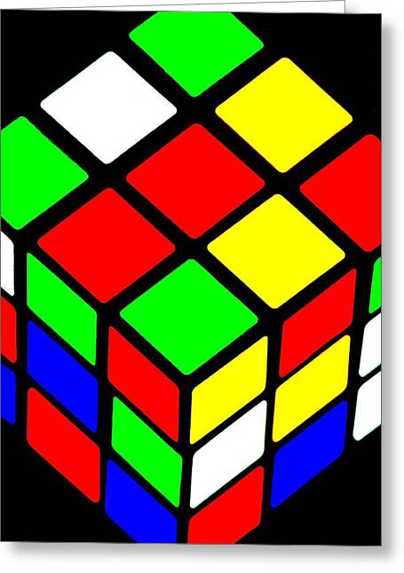 80s Greeting Cards - Rubiks Phone Greeting Card by Benjamin Yeager