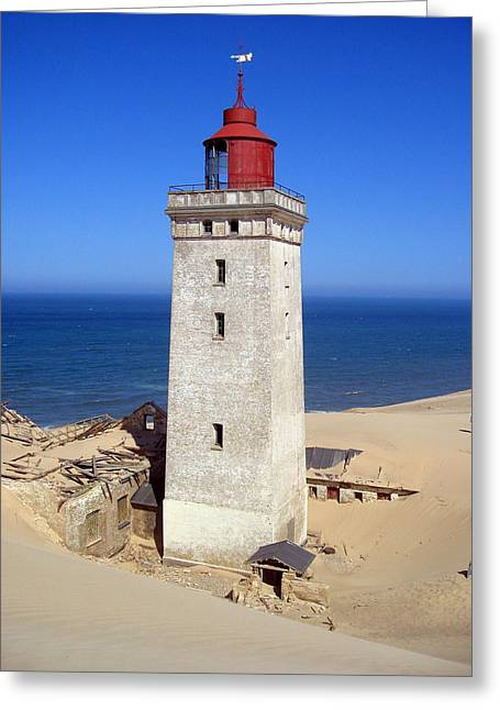 Recently Sold -  - Sanddunes Greeting Cards - Rubjerg knude lighthouse 2 Greeting Card by Konni Jensen