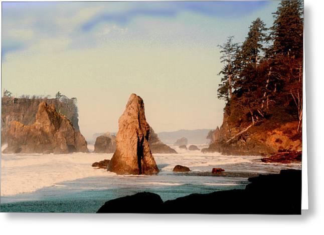 Print On Acrylic Greeting Cards - Ruby Beach Washington Coast Greeting Card by Jack Pumphrey