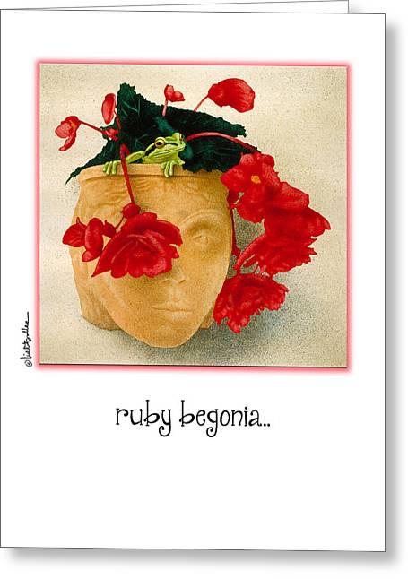 Begonia Greeting Cards - Ruby Begonia... Greeting Card by Will Bullas