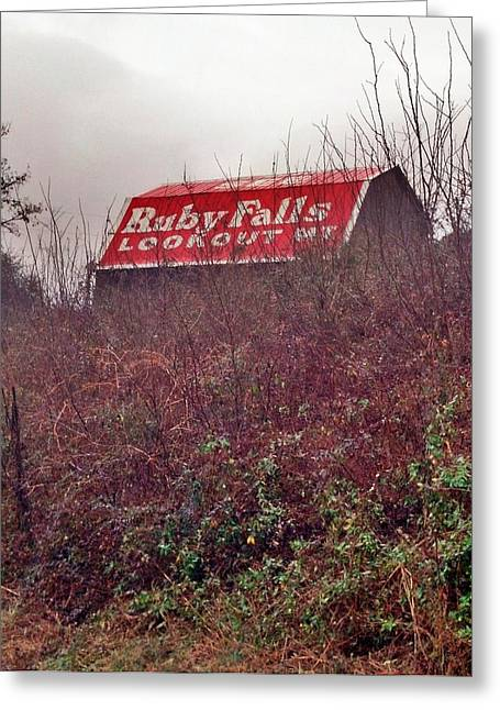 Tennessee Barn Greeting Cards - Ruby Falls Barn Greeting Card by Janice Spivey