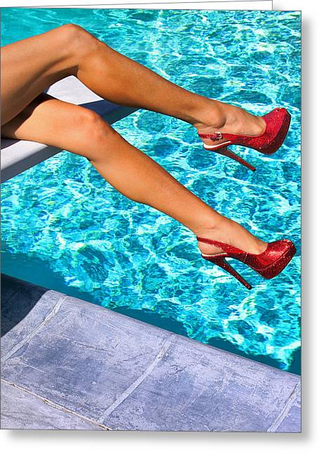 Spring Fashion Greeting Cards - RUBY HEELS NOT IN KANSAS Palm Springs Greeting Card by William Dey
