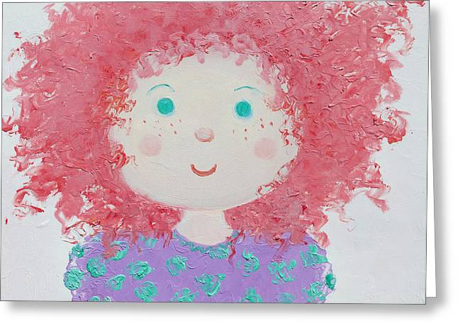 Modern Canvas Art Photo Greeting Cards - Ruby Greeting Card by Jan Matson
