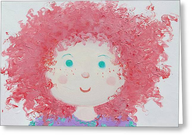 Red Haired Girl Greeting Cards - Ruby Greeting Card by Jan Matson