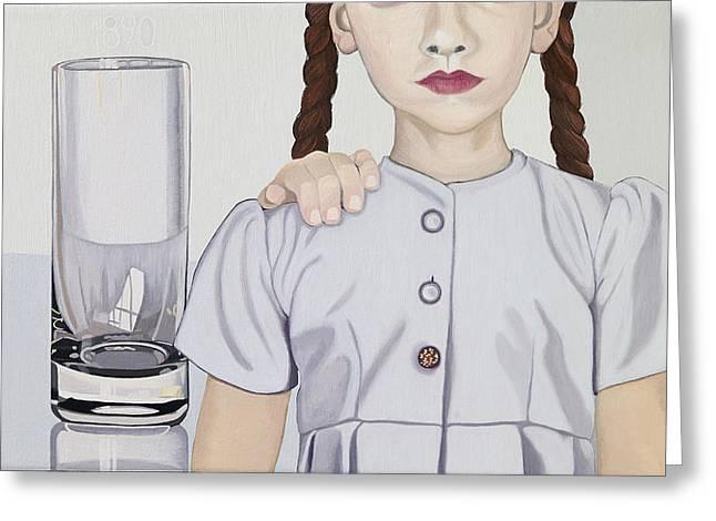 Hamburger Paintings Greeting Cards - Ruby Greeting Card by Marcella Lassen