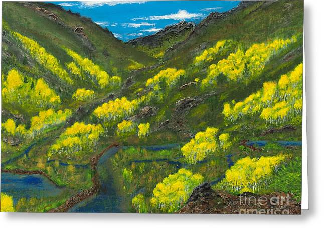 Dam Framed Prints Greeting Cards - Ruby Mountain Aspen Greeting Card by L J Oakes