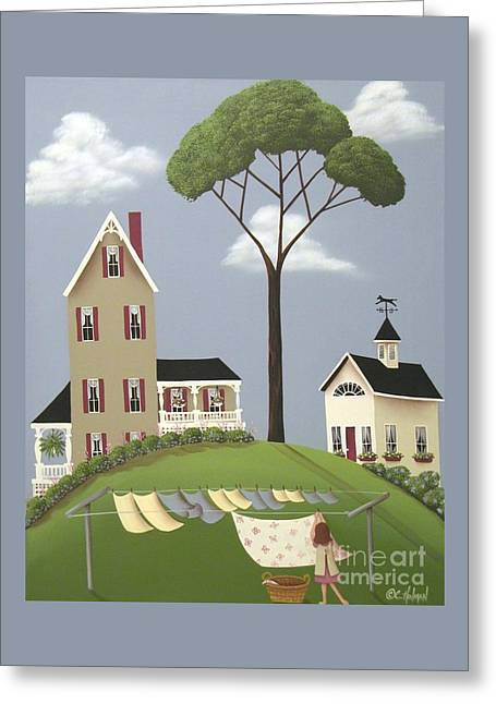 Catherine Greeting Cards - Rubys Boarding House Greeting Card by Catherine Holman