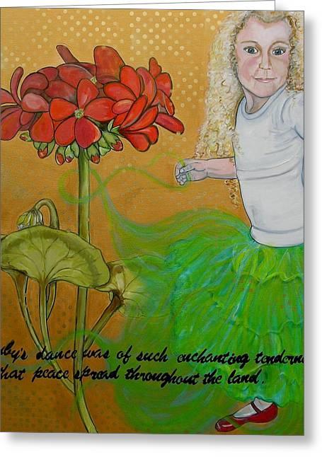 Dancing Girl Greeting Cards - Rubys Dance Greeting Card by Darlene Graeser