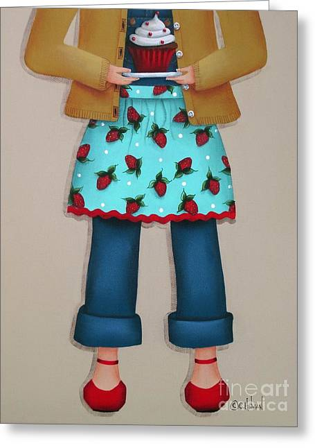 Ruby's Red Shoes Greeting Card by Catherine Holman