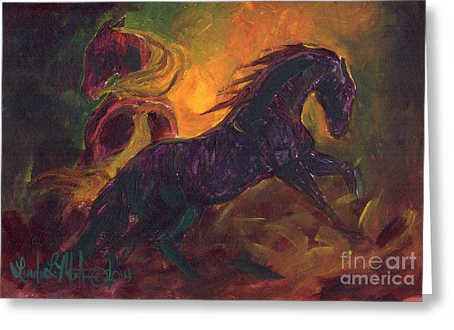 Llmartin Greeting Cards - Ruckus Greeting Card by Linda L Martin