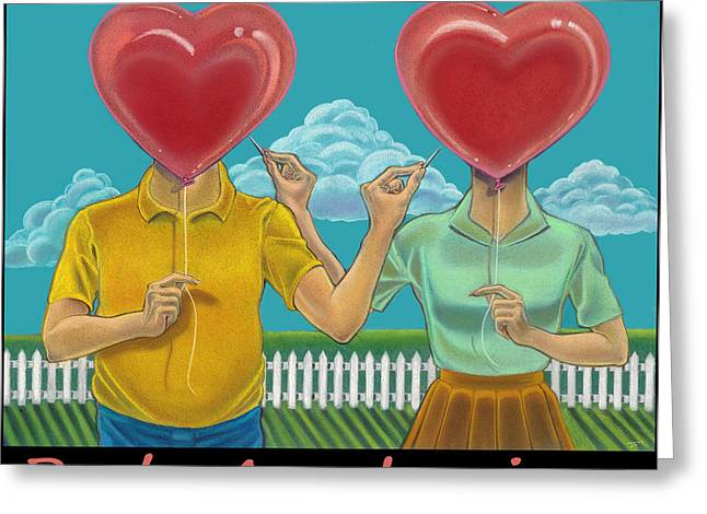 Heartbreak Greeting Cards - Rude Awakenings with Caption Greeting Card by J L Meadows