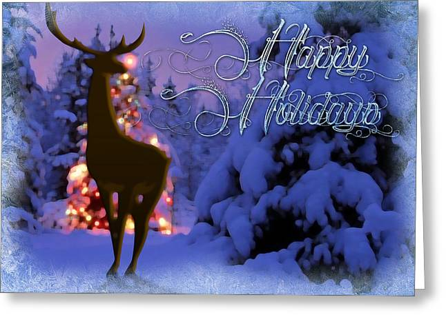 Rudolph Paintings Greeting Cards - Rudolph Greeting Card by Shawn Abel