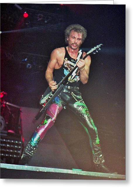 Rudy Greeting Cards - Rudy Schenker Scorpions Greeting Card by Sheryl Chapman Photography