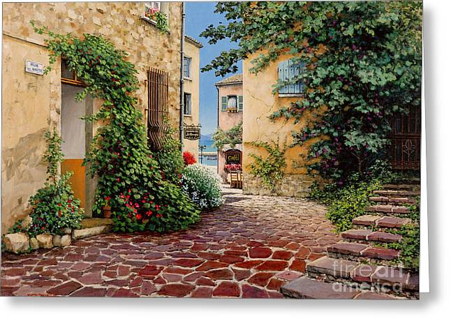Rue Anette Greeting Card by Michael Swanson