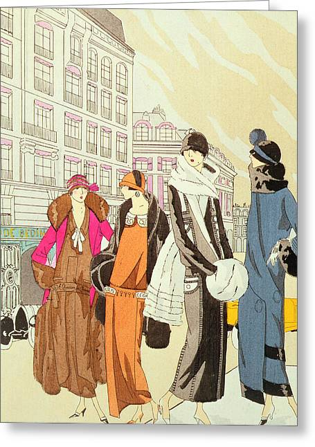 Twenties Greeting Cards - Rue de la Paix Paris Greeting Card by Anonymous