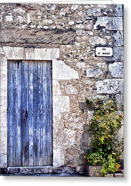 French Door Greeting Cards - Rue de Moissac - France Photography Greeting Card by Nomad Art And  Design