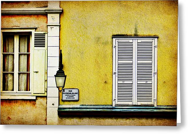 Eure Greeting Cards - Rue du Cheval Blanc Greeting Card by Nikolyn McDonald