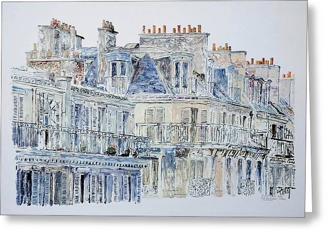 Contemporary Art Paintings Greeting Cards - Rue du Rivoli Paris Greeting Card by Anthony Butera