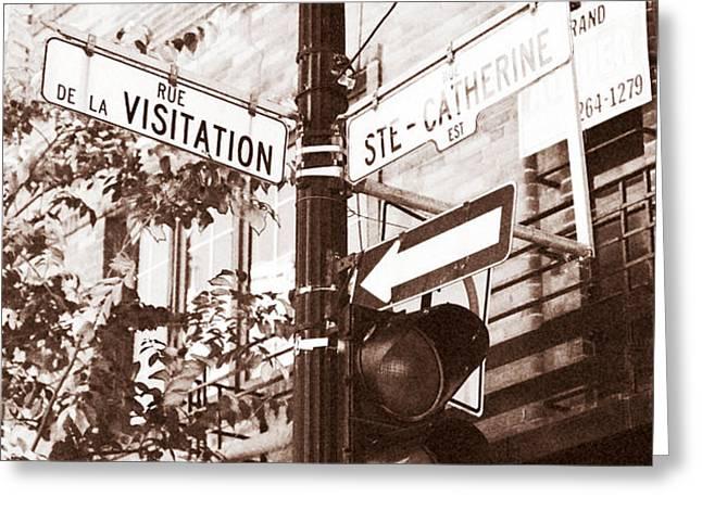 Rue Visitation Greeting Card by John Rizzuto