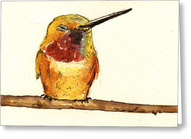 Juan Greeting Cards - Rufous hummingbird  Greeting Card by Juan  Bosco