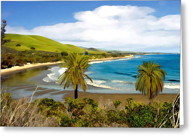 California Beach Digital Greeting Cards - Rufugio Greeting Card by Kurt Van Wagner