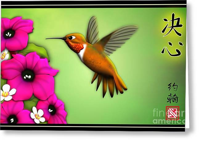 Rufus Greeting Cards - Rufus Hummingbird Greeting Card by John Wills