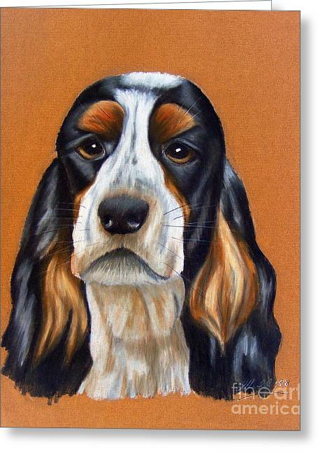 Spaniel Drawings Greeting Cards - Rufus Greeting Card by Julie Hull