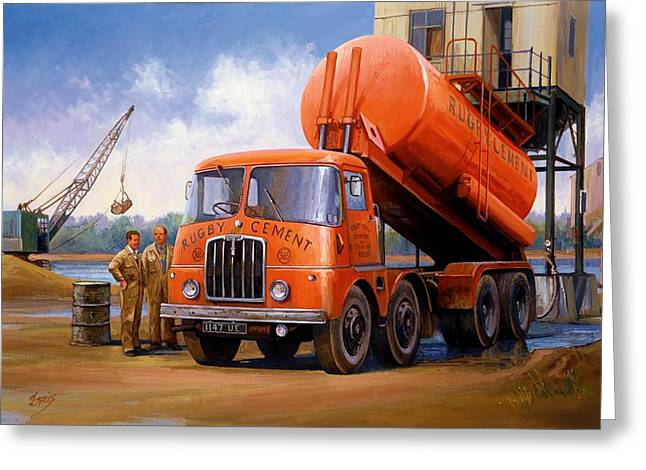 Original For Sale Greeting Cards - Rugby Cement Thornycroft. Greeting Card by Mike  Jeffries