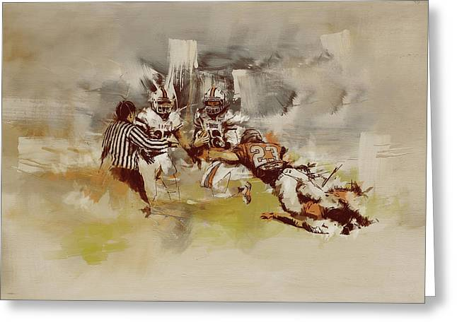 Winter Sports Art Prints Greeting Cards - Rugby Greeting Card by Corporate Art Task Force