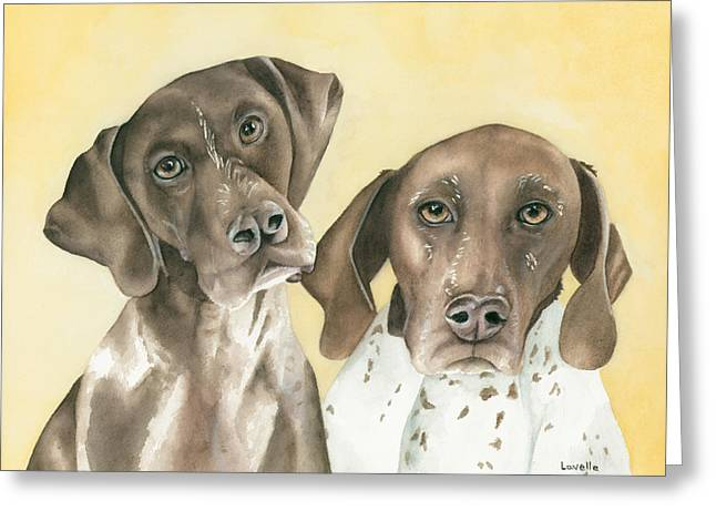 Ruger And Daisey   Greeting Card by Kimberly Lavelle