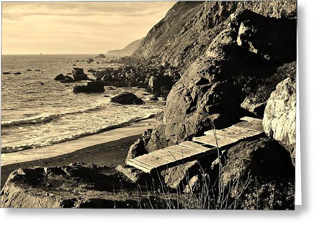 California Art Greeting Cards - Rugged Big Sur Coastline Greeting Card by David Lobos