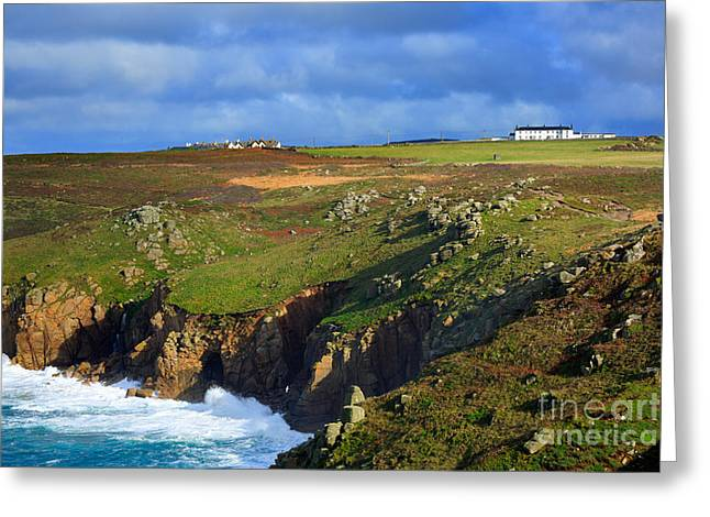 Sennen Greeting Cards - Rugged cliffs northeast of Lands End Greeting Card by Louise Heusinkveld