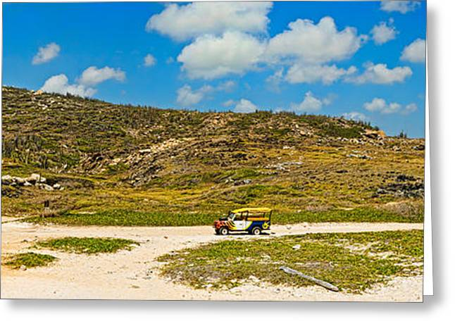 Indy Car Greeting Cards - Rugged Eastern Side Of An Island, Aruba Greeting Card by Panoramic Images
