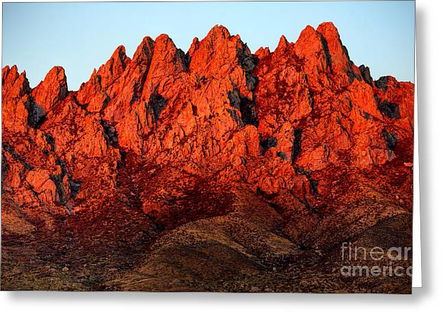 Las Cruces Landscape Greeting Cards - Rugged Mountains Greeting Card by Denis Tangney Jr