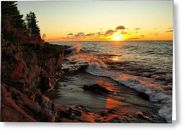Peterson Nature Photography Greeting Cards - Rugged Shore Fall Greeting Card by James Peterson