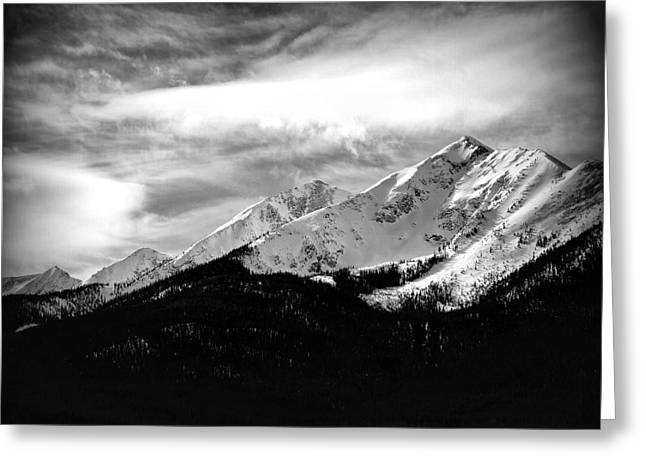 Winter Photos Photographs Greeting Cards - Rugged Winter Peaks Greeting Card by The Forests Edge Photography - Diane Sandoval