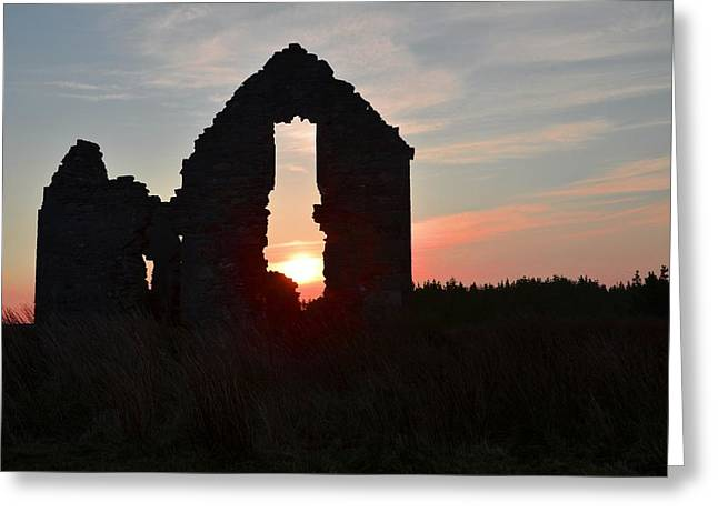 Sligo Greeting Cards - Ruin of a Hunting Lodge Near Lough Easkey in County Sligo Ireland Greeting Card by Bill Cannon
