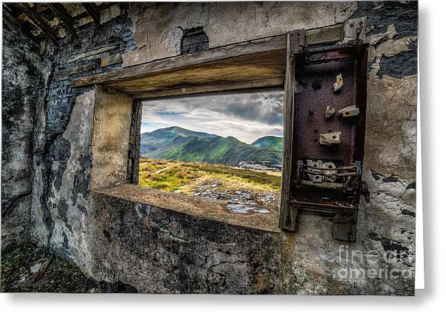 North Wales Greeting Cards - Ruin with a View  Greeting Card by Adrian Evans
