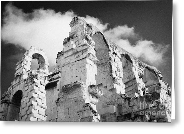 African Heritage Greeting Cards - Ruined Area Of The Old Roman Colloseum At El Jem Tunisia Greeting Card by Joe Fox