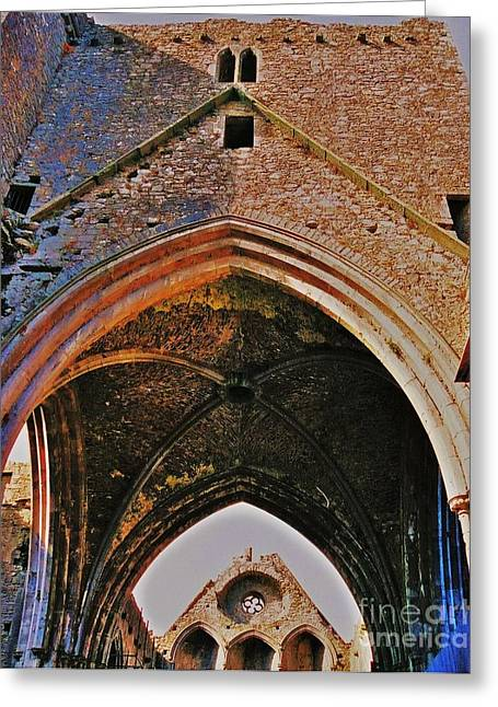 Distance Framed Prints Greeting Cards - Ruined Church Ireland Greeting Card by Marcus Dagan
