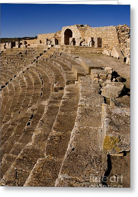 Northern Africa Greeting Cards - Ruins Of 2nd Century Roman Theater Greeting Card by Bill Bachmann