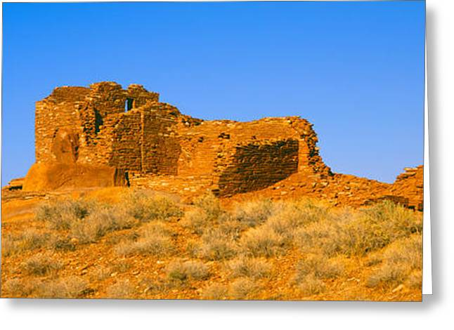 Rural Landscapes Greeting Cards - Ruins Of 900 Year Old Hopi Village Greeting Card by Panoramic Images