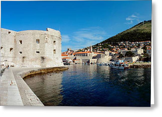Adriatic Sea Greeting Cards - Ruins Of A Building, Fort St. Jean Greeting Card by Panoramic Images