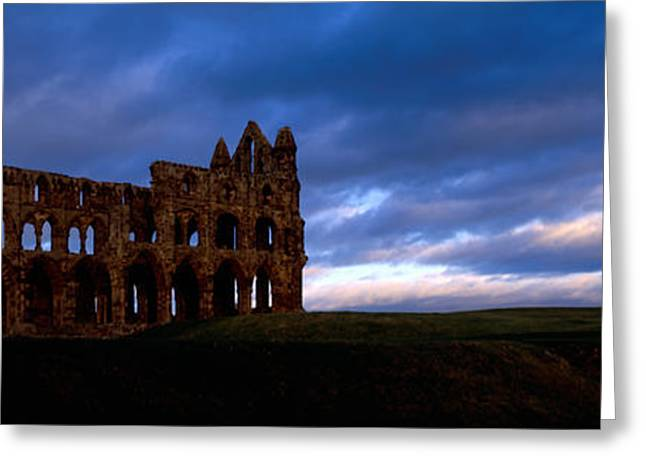 Civilization Greeting Cards - Ruins Of A Church, Whitby Abbey Greeting Card by Panoramic Images