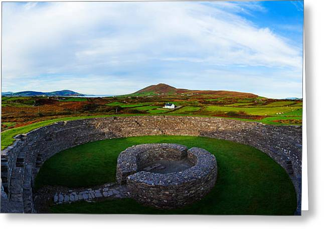 Republic Of Ireland Greeting Cards - Ruins Of A Fort, Cahergall Stone Fort Greeting Card by Panoramic Images
