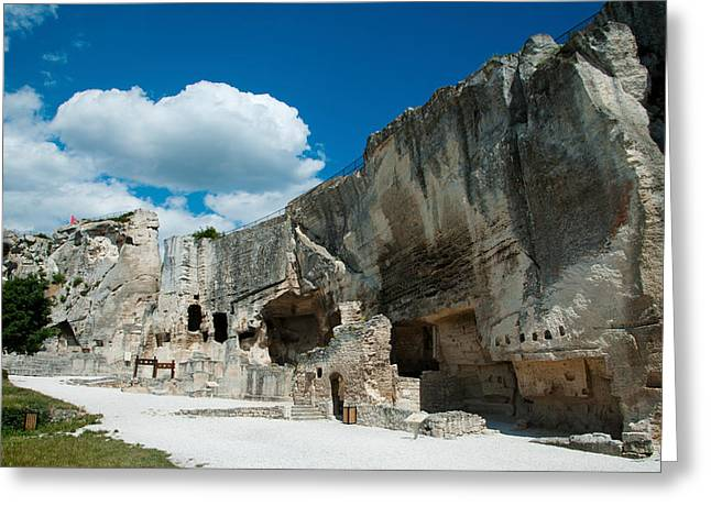 Ruins Of A Fortress, Les Greeting Card by Panoramic Images
