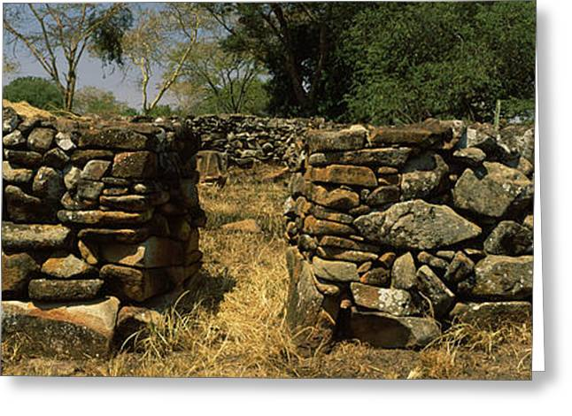 Civilization Greeting Cards - Ruins Of A Stone Wall, Thimlich Ohinga Greeting Card by Panoramic Images